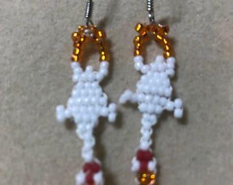 Glitzy Rubber Chicken Earrings