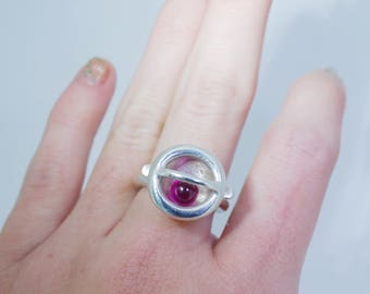 RUBY PINBALL RING
