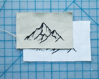 Mountain Range Fabric Patch