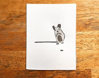 Mouse Ink Drawing