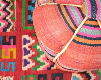 Huge Tunisian vintage Kilim rug with bright colours