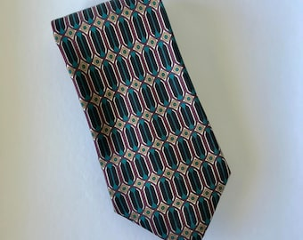 Blue Black and Brown Regency Style ETC Essential Tie Collection Silk Mens Neck Tie