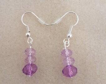 Purple bicone drops