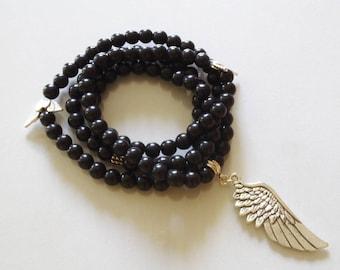 Mala 108 beads Magnesite Stone