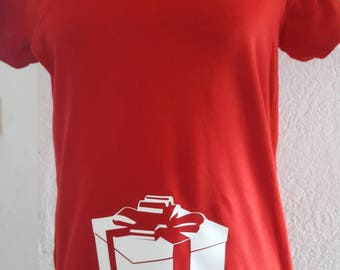 Christmas gift maternity t-shirt