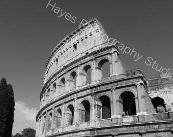 Colosseum B&W-Rome