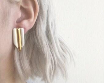 Bone & Gold Earrings