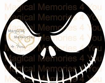 Nightmare Before Christmas Jack inspired cut file, svg, jpg, dxf, esp, instant download, digital download cut file