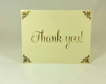 Gold Foil Stamped Thank you Cards (Pack of 20 cards and envelopes)
