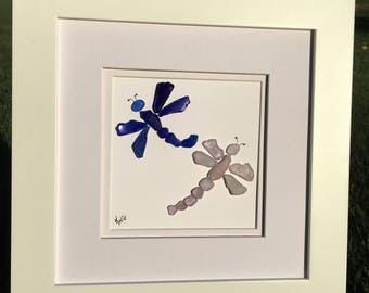 Authentic Sea Glass Dragonflies