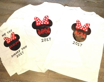 Disney themed t-shirts for the family!