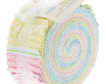 "Bobo Baby 2.5"" Strips by Maggie and Flo for Contempo Studios - Jelly Rolls - Precuts - 100% Cotton - Quilting"