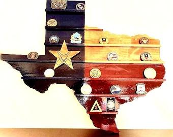 Texas Wall Challenge Coin Display