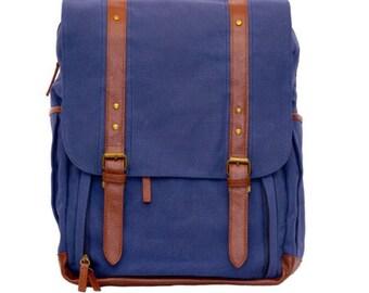 Camera Backpack / Waxed Canvas Bag / Camera Bag
