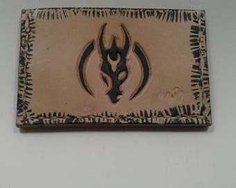 Mandalorian Merc leather front pocket wallet, hand made in the USA with free shipping