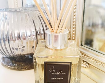 Basil & Neroli Fleurs - 100% Handmade Luxury Reed Diffuser- Luxury Home Gift - luxury home fragrance - Made in UK- Jo Malone Inspir