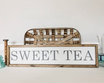 Sweet Tea Sign, Summer Decor, Southern Kitchen Decor, Farmhouse Style, Tea Sign, Goft for Mom, READY TO SHIP