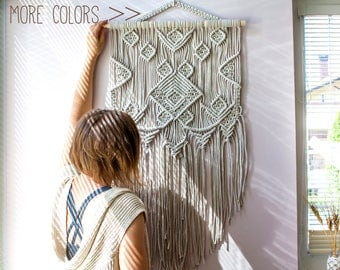 SALE! Macrame Wall Hanging, Macrame Wall Art, Woven Wall Hanging, Boho Wall Decor, Wall Tapestry, Woven Wall Tapestry, Macrame, Boho Decor