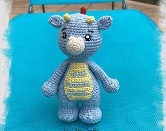 The blue dragon crochet Drago