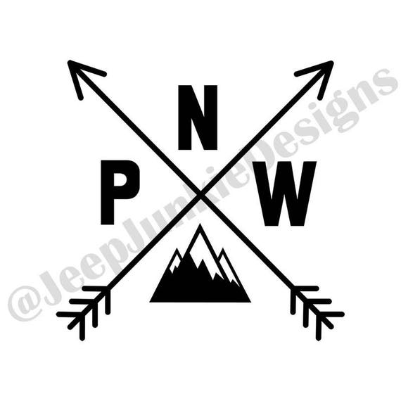 Pacific North West PNW Vinyl Decal Pacific Northwest PWN