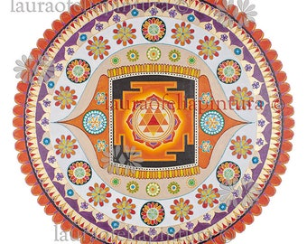 Yantra of Durga. Digital downloading.