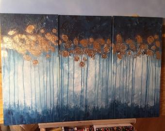 Golden field, triphtych