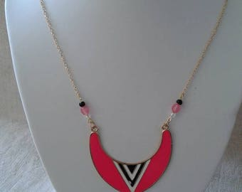 "necklace ""inca rose and Pearl"""
