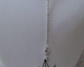 "necklace ""Silver origami bird"""