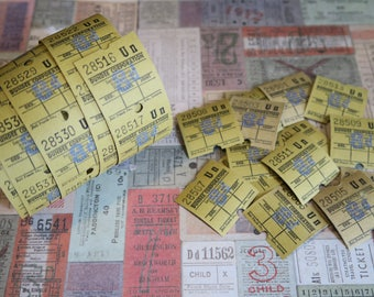 30 Vintage Bus Tickets Yellow Dundee Corporation