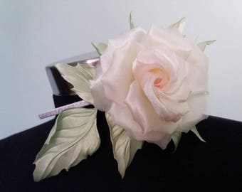 Silk rose on a headband