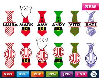 Tie Monogram Frame Svg Christmas Frames Svg Chevron Christmas Monogram Svg Pattern Frames Svg Santa Split Grinch Monogram Tie Silhouette Dxf