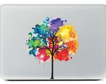 Macbook Decal - Abstract Tree Color Palette Laptop Vinyl Sticker