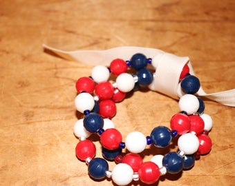 Red White and Blue Bracelet Bunch