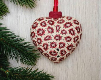 christmas tree ornament handmade christmas flower glass ornament polymer clay gift idea - Handmade Christmas Tree Ornaments
