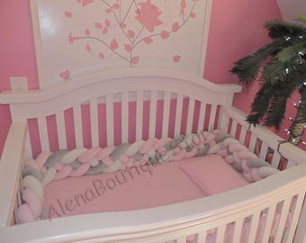Mixed Colours Braided Crib Bumper Nursery Bedding Kids Room