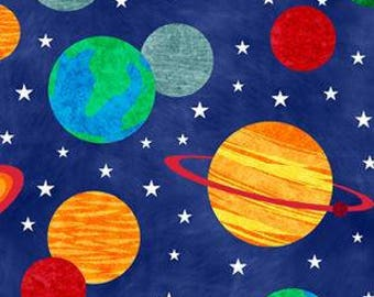 Solar System Printed Fleece Tied Blanket
