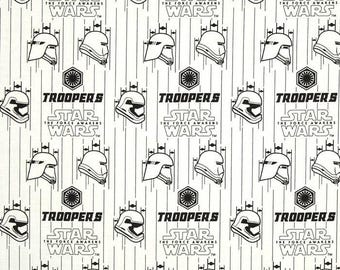 tissu patchwork Star Wars TROOPERS blanc et noir Camelot Fabric