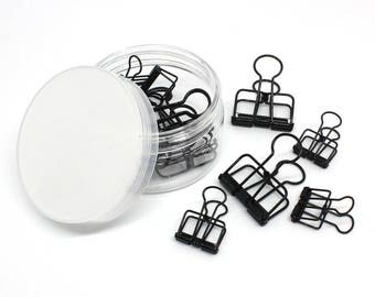Creoly Binder Clips x12 Black