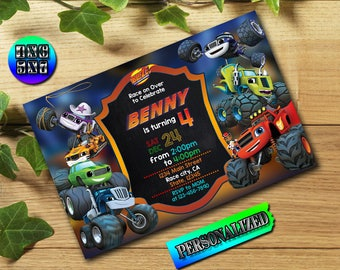 Blaze and The Monster Machines,Blaze Birthday Invitation,Blaze and The Monster,Blaze Invitation,Blaze Birthday,Blaze Invite,Blaze Party,FD