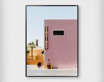 Las Vegas Print | Photography | Pink - Blue | Vegas - Casino - Poster