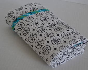 Receiving Blanket-Swaddle-Flannel-White-Black-Graphic- Baby Blanket