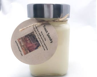 French Laundry Homemade Candle 9oz, Soy Candles For Sale, Mason Jar Candles, Handmade Candles, Laundry Candles