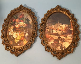 Oval Ornate Picture Frames