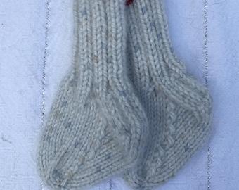 Hand-Knit Baby Socks (newborn-3 mo.)