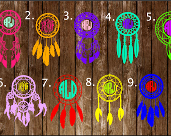 Monogram Decal, Dream Catcher Decal, Dream Catcher, Monogram