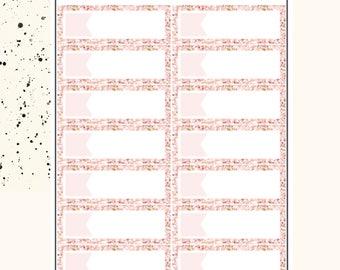 GLITTER BOX | Planner Stickers | Premium Matte Paper