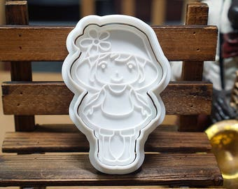 Girl going to Beach Cookie Cutter and Stamp