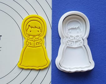 Singing Girl Cookie Cutter and Stamp