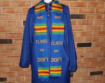 Graduation Sash- Graduation Stole-  class of 2017 kente Graduation Sash- African Clothing Graduation stole- African print Graduation gift