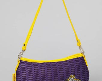 Louisiana State University TIGERS Hawaiian Mesh Hand bag Tote Bag Purple/Gold